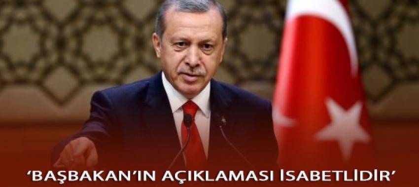 Erdoğan: Başbakan'ın açıklaması isabet olmuştur