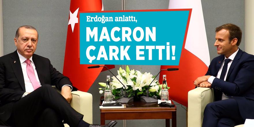 Erdoğan anlattı, Macron çark etti!