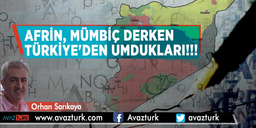 Afrin, Mümbiç derken Türkiye'den umdukları!!!