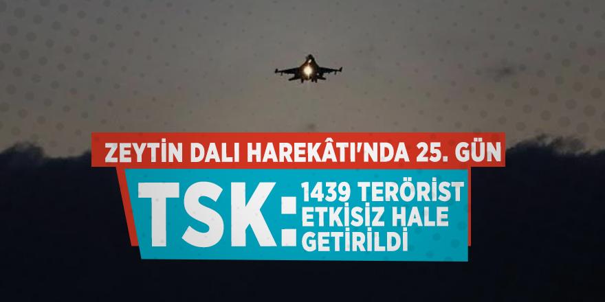 TSK: 1439 terörist etkisiz hale getirildi
