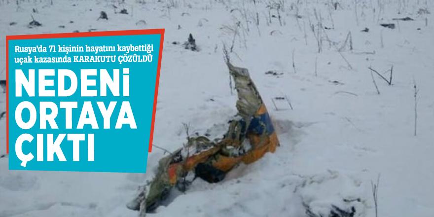 Rusya'da 71 kişinin hayatını kaybettiği uçak kazasında KARAKUTU ÇÖZÜLDÜ