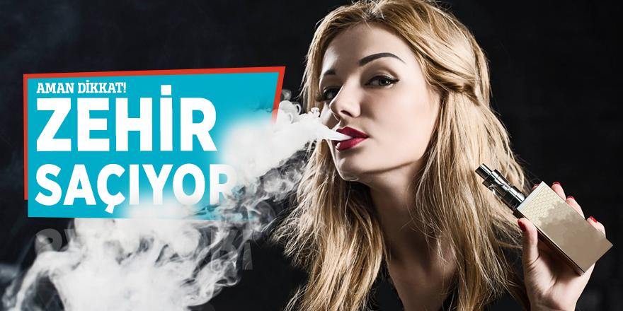 Elektronik sigara zehir saçıyor!