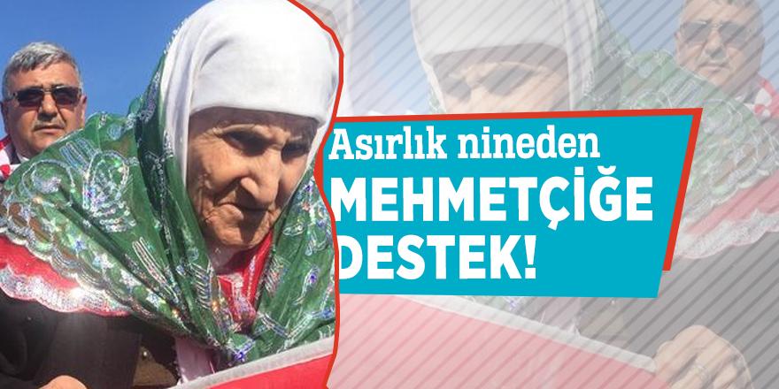 Asırlık nineden Mehmetçiğe destek!