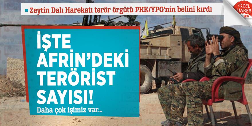 İşte Afrin'deki terörist sayısı! Daha çok işimiz var…