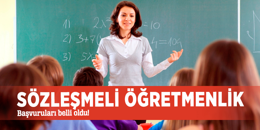 Sözleşmeli öğretmenlik başvuruları belli oldu!