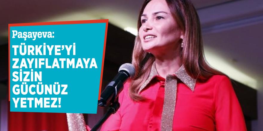 Paşayeva: Türkiye'yi zayıflatmaya sizin gücünüz yetmez
