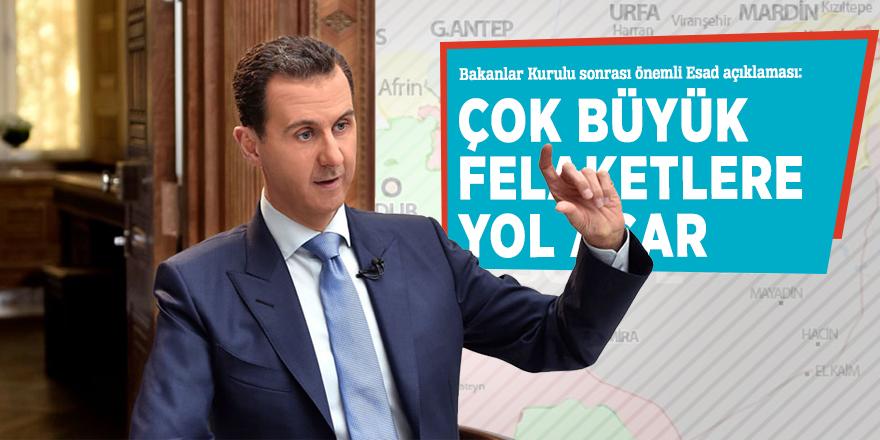 Bakanlar Kurulu sonrası önemli Esad açıklaması!