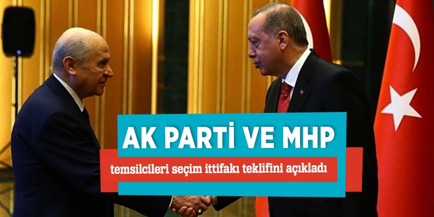 AK Parti ve MHP temsilcileri seçim ittifakı teklifini açıkladı