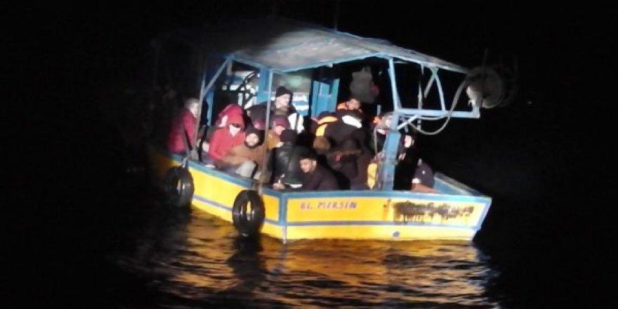 Mersin'de 38 kaçak göçmen yakalandı