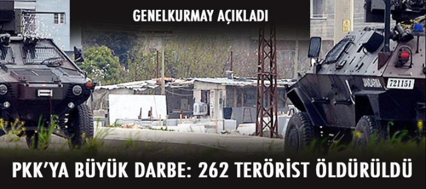 PKK'ya büyük darbe: 262 terörist öldürüldü!