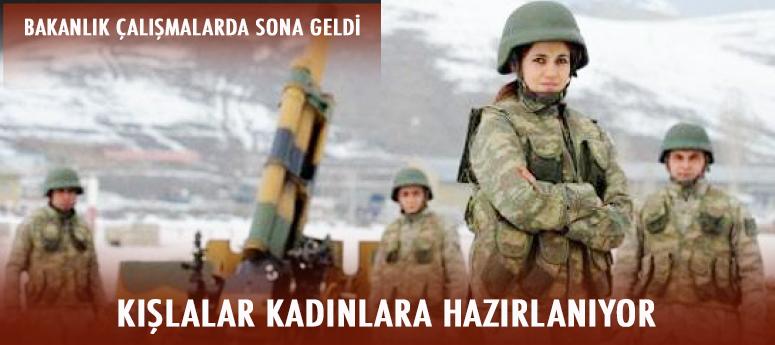 Kadınlara askerlik için kapı aralandı!