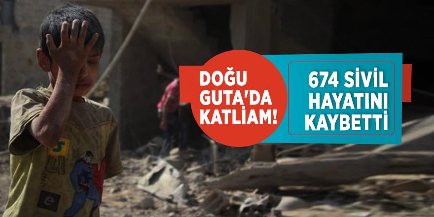 Doğu Guta'da katliam! 674 sivil hayatını kaybetti