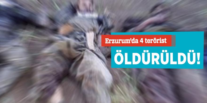 Erzurum'da 4 terörist öldürüldü!