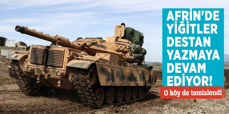 Afrin'de yiğitler destan yazmaya devam ediyor! O köy de temizlendi