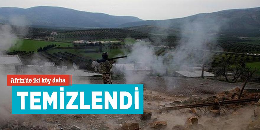 Afrin'de iki köy daha teröristlerden temizlendi