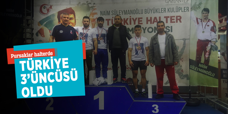 Pursaklar halterde Türkiye 3'üncüsü oldu