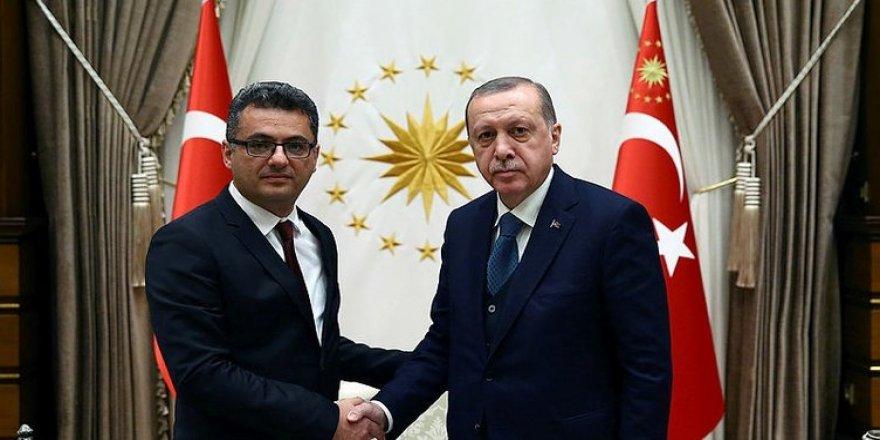 Cumhurbaşkanı Erdoğan KKTC Başbakanı'nı Külliye'de kabul etti