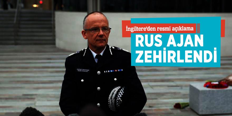 İngiltere'den resmi açıklama!Rus ajan zehirlendi...