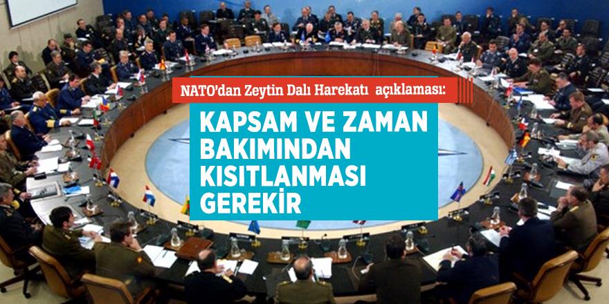 NATO'dan kritik Zeytin Dalı Harekatı açıklaması