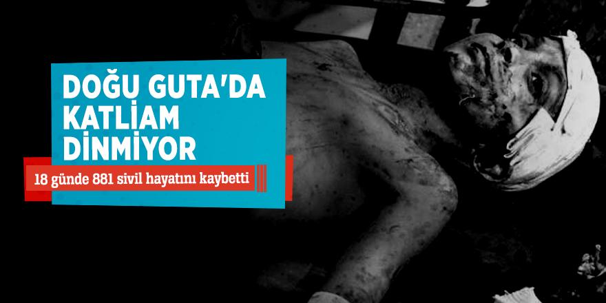 Doğu Guta'da katliam dinmiyor!18 günde 881 sivil hayatını kaybetti...
