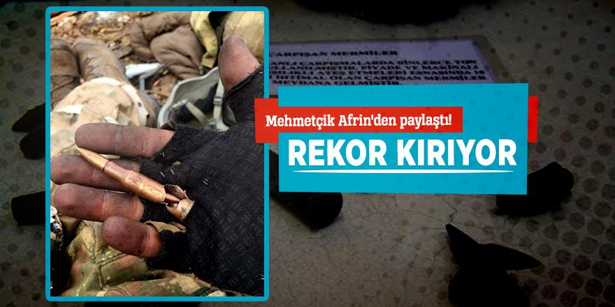 Mehmetçik Afrin'den paylaştı! Rekor kırıyor