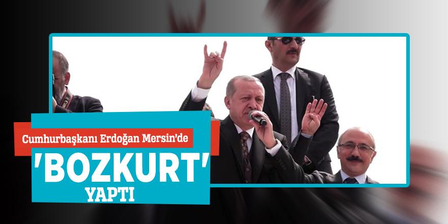 Cumhurbaşkanı Erdoğan'dan 'bozkurt' işareti