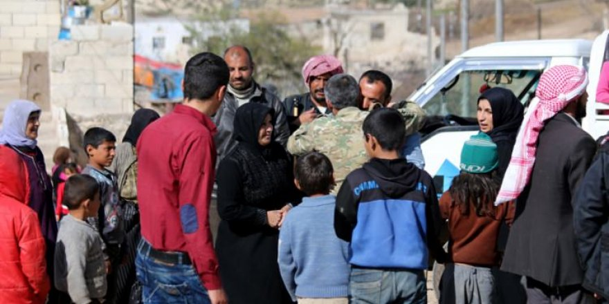 Afrin'de sevindiren buluşma!