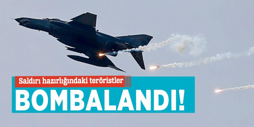 Saldırı hazırlığındaki teröristler bombalandı!