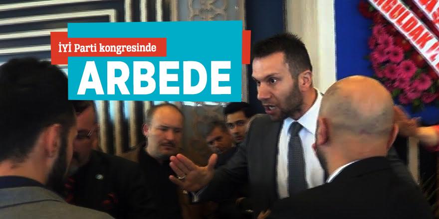 İYİ Parti kongresinde arbede
