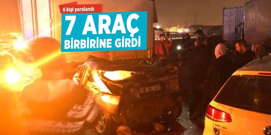 Gebze'de 7 araç birbirine girdi