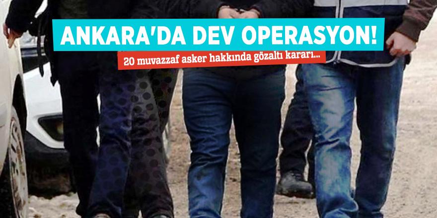 Ankara'da dev operasyon! Çok sayıda gözaltı...