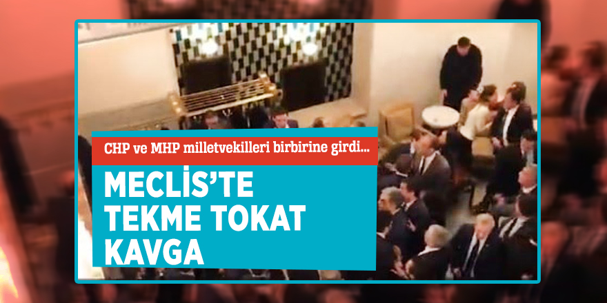 CHP ve MHP milletvekilleri...Meclis'te tekme tokat kavga!