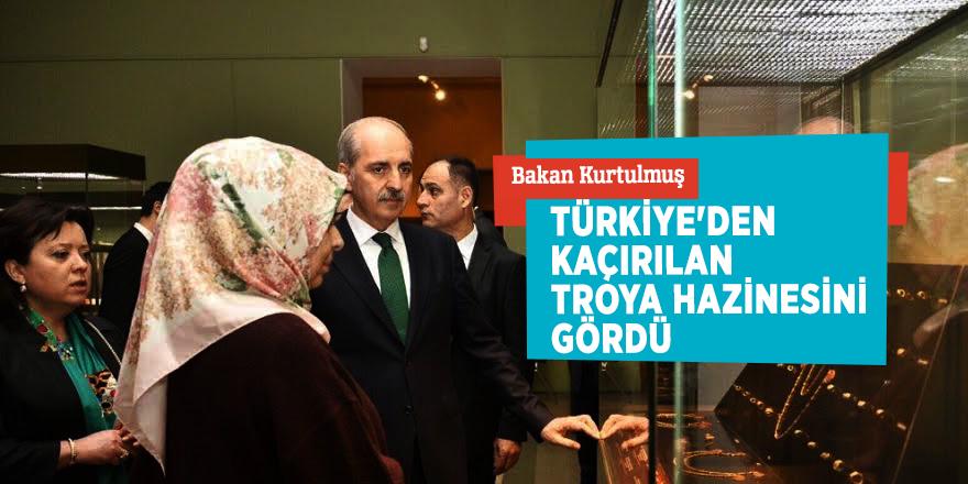 Bakan KurtulmuşTürkiye'den kaçırılan Troya hazinesini gördü