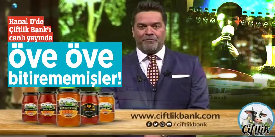 Kanal D'de Çiftlik Bank reklamı canlı yayında öve öve bitirememişler!