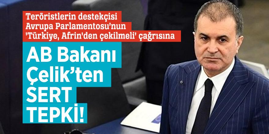 AB Bakanı Çelik'ten AP'nin skandal çağrısına sert tepki!