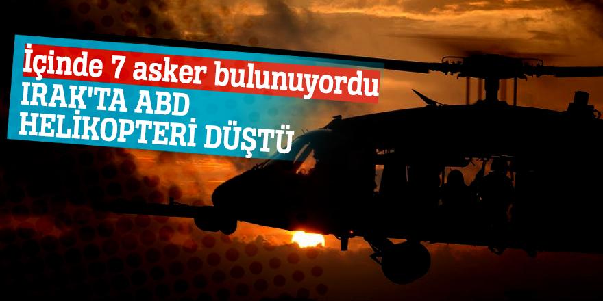 İçinde 7 asker bulunuyordu!Irak'ta ABD helikopteri düştü...