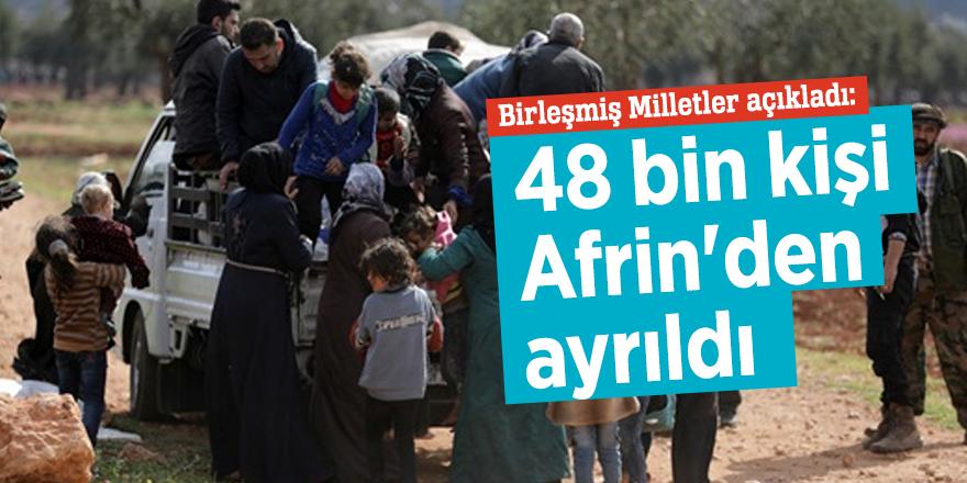 Birleşmiş Milletler açıkladı: 48 bin kişi Afrin'den ayrıldı