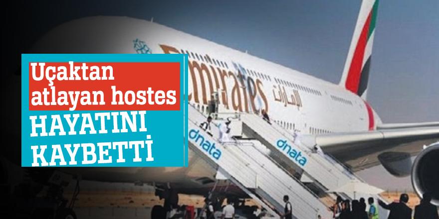 Uçaktan atlayan hostes hayatını kaybetti