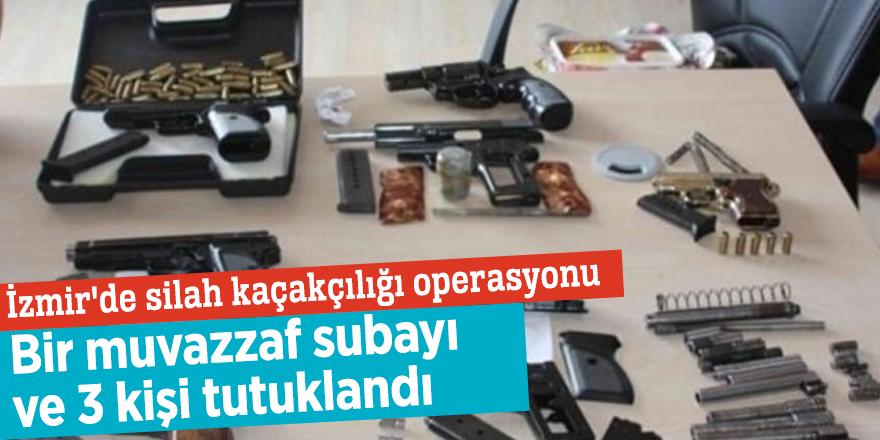 İzmir'de silah kaçakçılığı operasyonu! Bir muvazzaf subayı ve 3 kişi tutuklandı