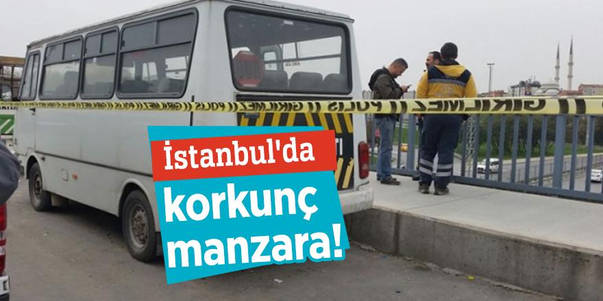 İstanbul'da korkunç manzara! Minibüste bir kişi ölü bulundu!