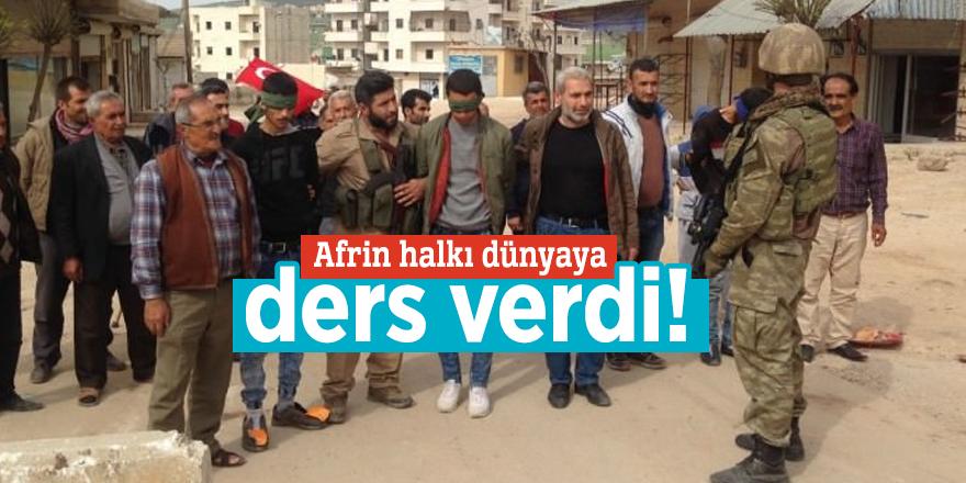 Afrin halkı dünyaya ders verdi!