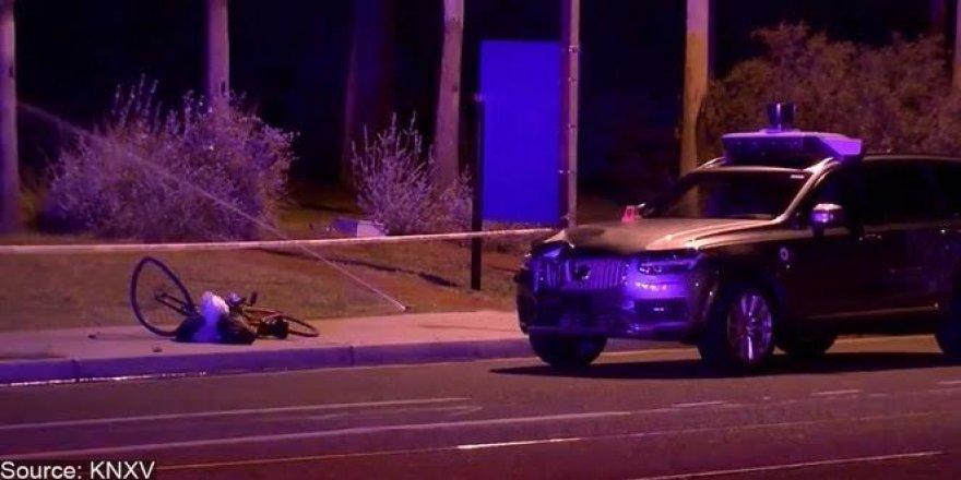 Uber'in insansız aracı ölümlü kazaya sebep oldu