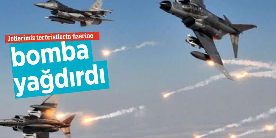 Jetlerimiz teröristlerin üzerine bomba yağdırdı