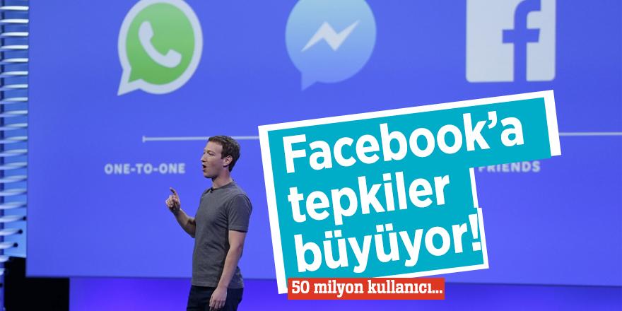 Facebook'a tepkiler büyüyor!