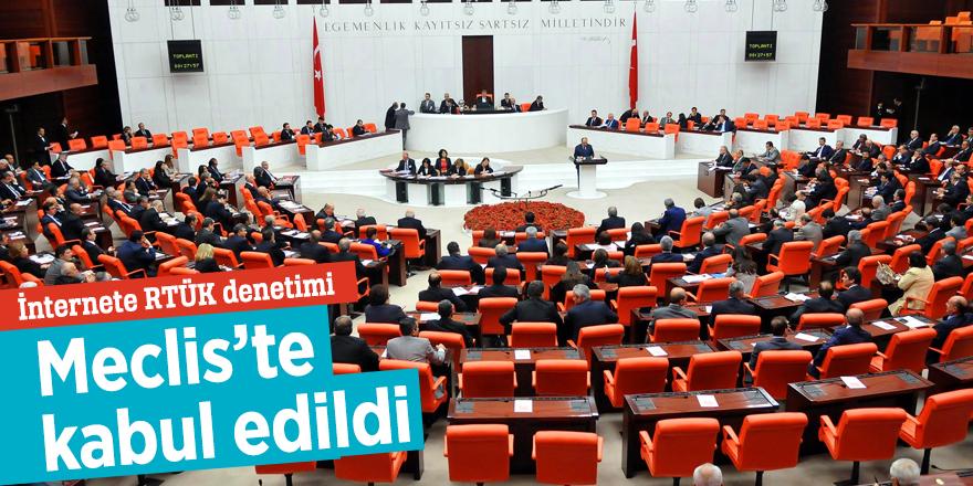 İnternete RTÜK denetimi Meclis'te kabul edildi