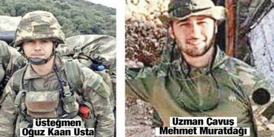 Afrin'de şehit olan askerlerin naaşına ulaşıldı