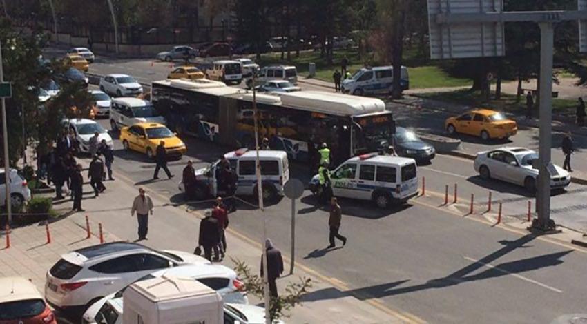 Ankara'da bombalı otobüs şüphesi!