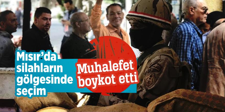 Muhalefet boykot etti! Mısır'da silahların gölgesinde seçim