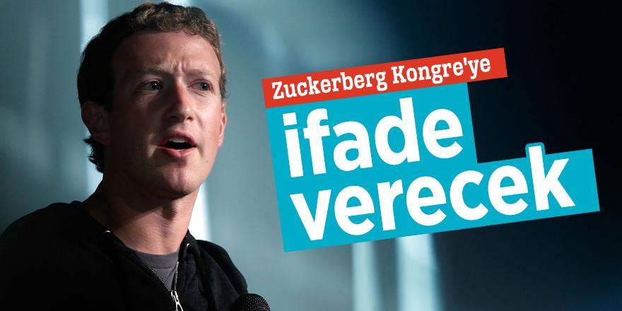 Zuckerberg Kongre'ye ifade verecek