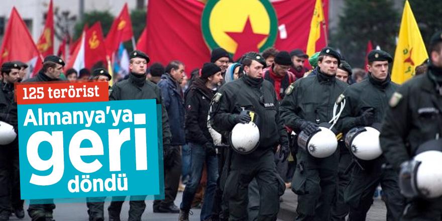 125 terörist Almanya'ya geri döndü